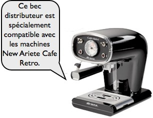 bec distributeur new ariete cafe retro
