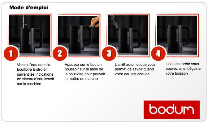 Notice bouilloire Bodum bistro