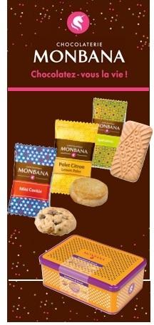 Boîte 45 biscuits (Cookies, Palet Citron, Spéculoos) - Monbana
