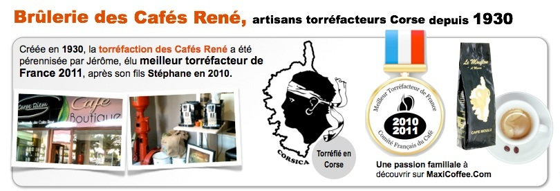 Les Caf�s Ren� ont �t� �lu meilleur torr�facteur de France en 2010 - 2011