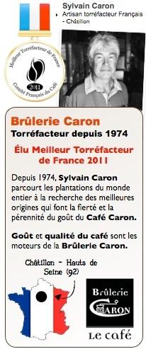 sylvain caron meilleur torréfacteur de france 2011