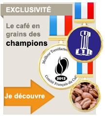 Caf� en grains, caf� des champions de France
