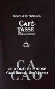 Chocolat en poudre artisanal cacao café-tasse