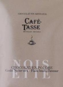 Chocolat en poudre artisanal noisette café-tasse