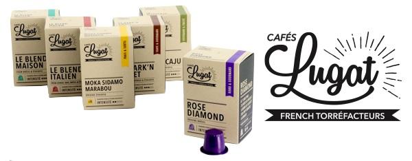 capsules compatibles nespresso cafés lugat