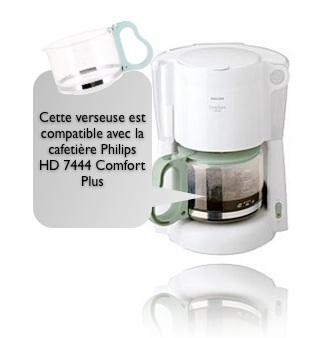 verseuse philips hd756 pour cafeti re hd7444 comfort plus. Black Bedroom Furniture Sets. Home Design Ideas