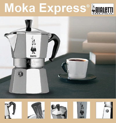 cafeti re italienne bialetti moka express 6 tasses. Black Bedroom Furniture Sets. Home Design Ideas