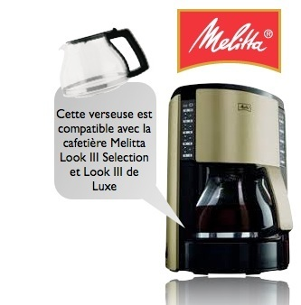 verseuse melitta pour cafeti re look de luxe look selection m651 m652. Black Bedroom Furniture Sets. Home Design Ideas