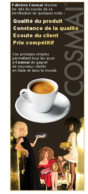 Café COSMAI : Le vrai café italien