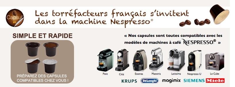 Capsules compatibles Nespresso Capsul'In