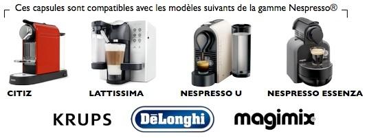 Capsules compatibles Nespresso Goppion Caffe