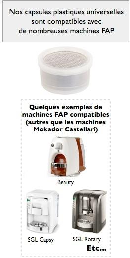 capsules universelles mokador castellari
