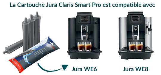 jura claris smart compatible avec les machine à café we6 et we8
