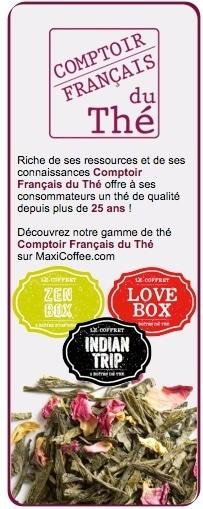Coffret thé Love box - Comptoir Français du thé