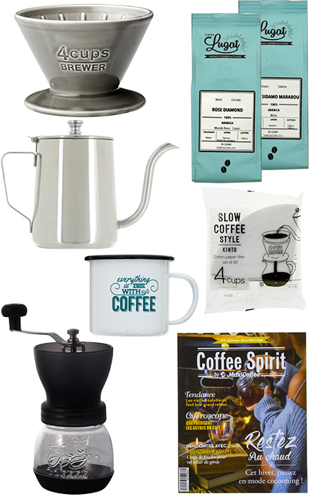 coffret café dripper et moulin