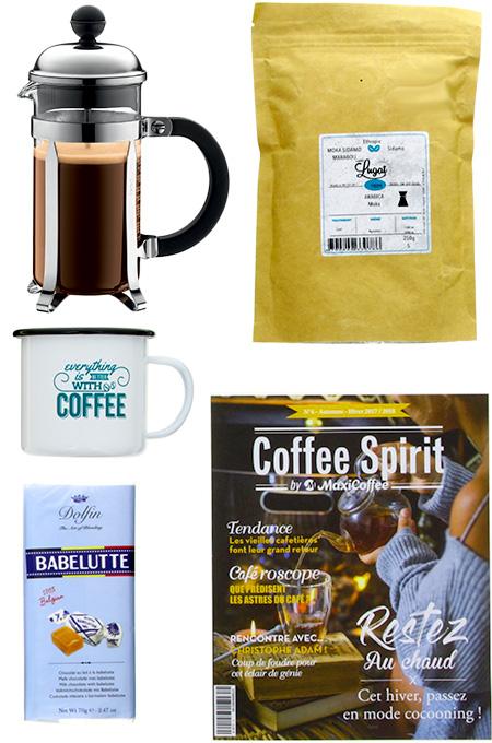 coffret café cafetière à piston