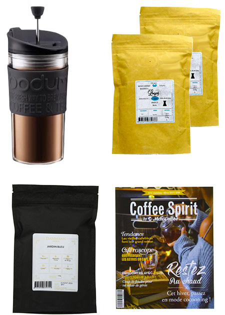 coffret café thé travel press