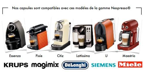 capsules compatibles avec machines nespresso