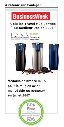 Travel Mug et Tumbler Contigo : Meilleur Design 2007