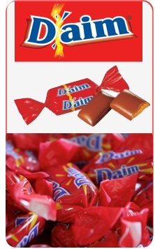 Daim Marque bonbons daim chocolat au lait - 140 gr