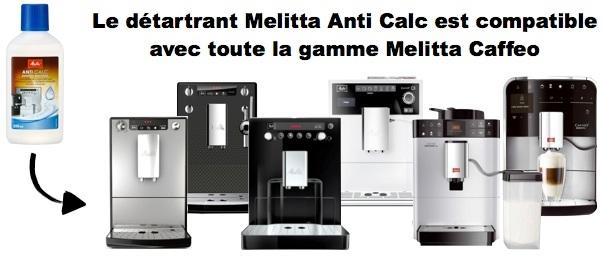 détartrant liquide pour machine à café melitta caffeo