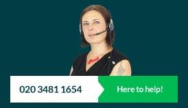 Customer service 020 3481 1654