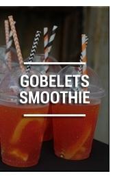 gobelets smoothie et milkshake