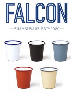 tasse blanche avec bordure bleue 31 cl falcon enamelware. Black Bedroom Furniture Sets. Home Design Ideas