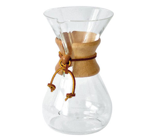 chemex cafeti re en verre slow coffee 6 tasses. Black Bedroom Furniture Sets. Home Design Ideas