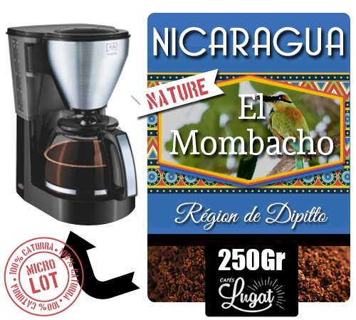 caf moulu pour cafeti re filtre nicaragua el mombacho caturra nature. Black Bedroom Furniture Sets. Home Design Ideas