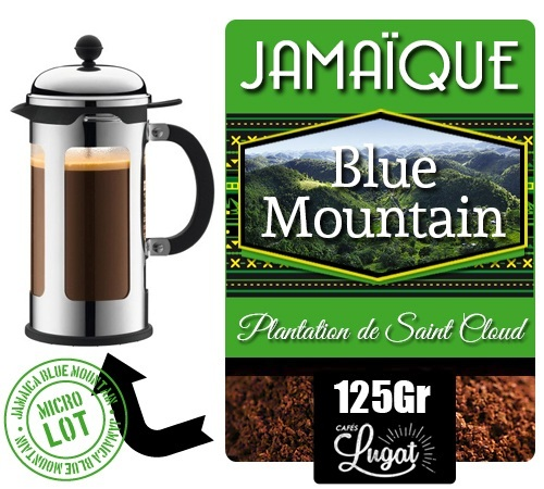 caf moulu blue mountain pour cafeti re piston 125 g. Black Bedroom Furniture Sets. Home Design Ideas