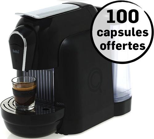 machine capsule delta qool 1 1 noir. Black Bedroom Furniture Sets. Home Design Ideas