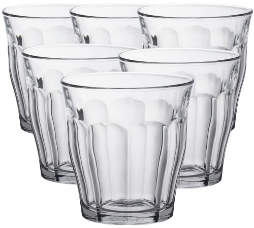 6 verres th ou verre caf duralex picardie 31cl - Verre picardie duralex ...