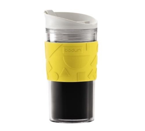 travel mug memphis acrylique jaune 35 cl bodum. Black Bedroom Furniture Sets. Home Design Ideas
