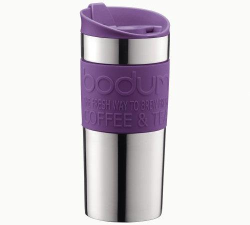 mug de voyage bodum 35 cl inox violet. Black Bedroom Furniture Sets. Home Design Ideas