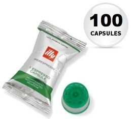 100 x Capsule illy Iperespresso vert d�caf�in�