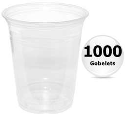 1000 gobelets transparents 36cl