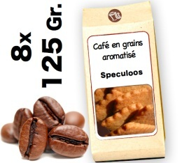 Caf� grain aromatis� Speculoos - 8x 125g