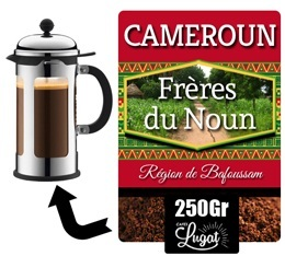 caf moulu pour cafeti re piston fr res du noun cameroun 250 gr. Black Bedroom Furniture Sets. Home Design Ideas