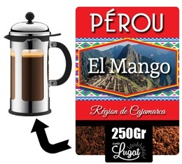 Caf moulu pour cafeti re piston el mango perou 250 g lionel lugat - Cafe pour cafetiere a piston ...