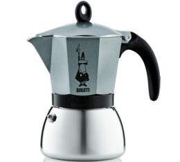 Cafetière italienne induction Bialetti Moka Express anthracite - 3 tasses
