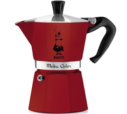 Cafetière italienne Bialetti Moka Express Color rouge bordeaux - 3 tasses