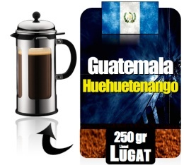 caf moulu pour cafeti re piston huehuetenango du guatemala 250g lionel lugat. Black Bedroom Furniture Sets. Home Design Ideas