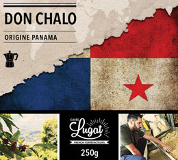 Caf� moulu pour cafeti�re italienne : Panama - Don Chalo - 250g - Caf�s Lugat