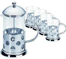 cafeti re piston french press bulle 1 litre 4 mugs. Black Bedroom Furniture Sets. Home Design Ideas