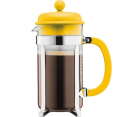 Cafeti re piston bodum caffettiera memphis jaune 35cl - Cafetiere a piston avis ...