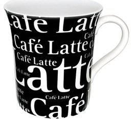 Mug noir et blanc Café Latte - blanc