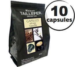 Capsules saveur Vanille x 10 Taillefer pour Nespresso