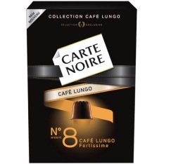 Capsules Carte Noire Lungo n°8 Fortissime x10 pour Nespresso