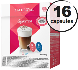 Capsules Dolce Gusto® compatibles Café Royal Cappuccino x 16 (8 boissons)